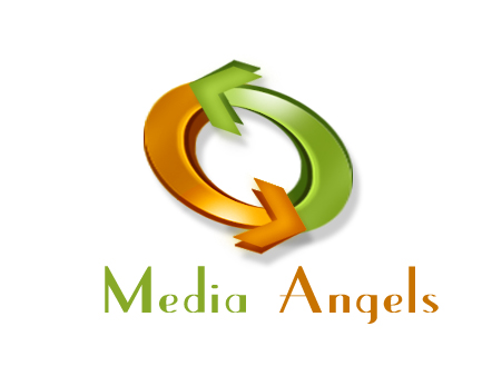 Logo Design by Crystal Desizns - Entry No. 246 in the Logo Design Contest New Logo Design for Media Angels.