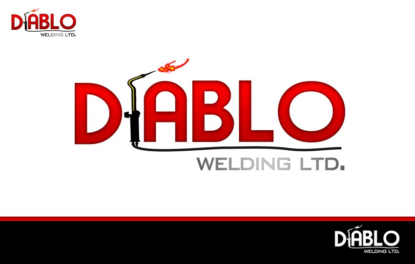 Logo Design by Respati Himawan - Entry No. 28 in the Logo Design Contest New Logo Design for Diablo Welding Ltd..