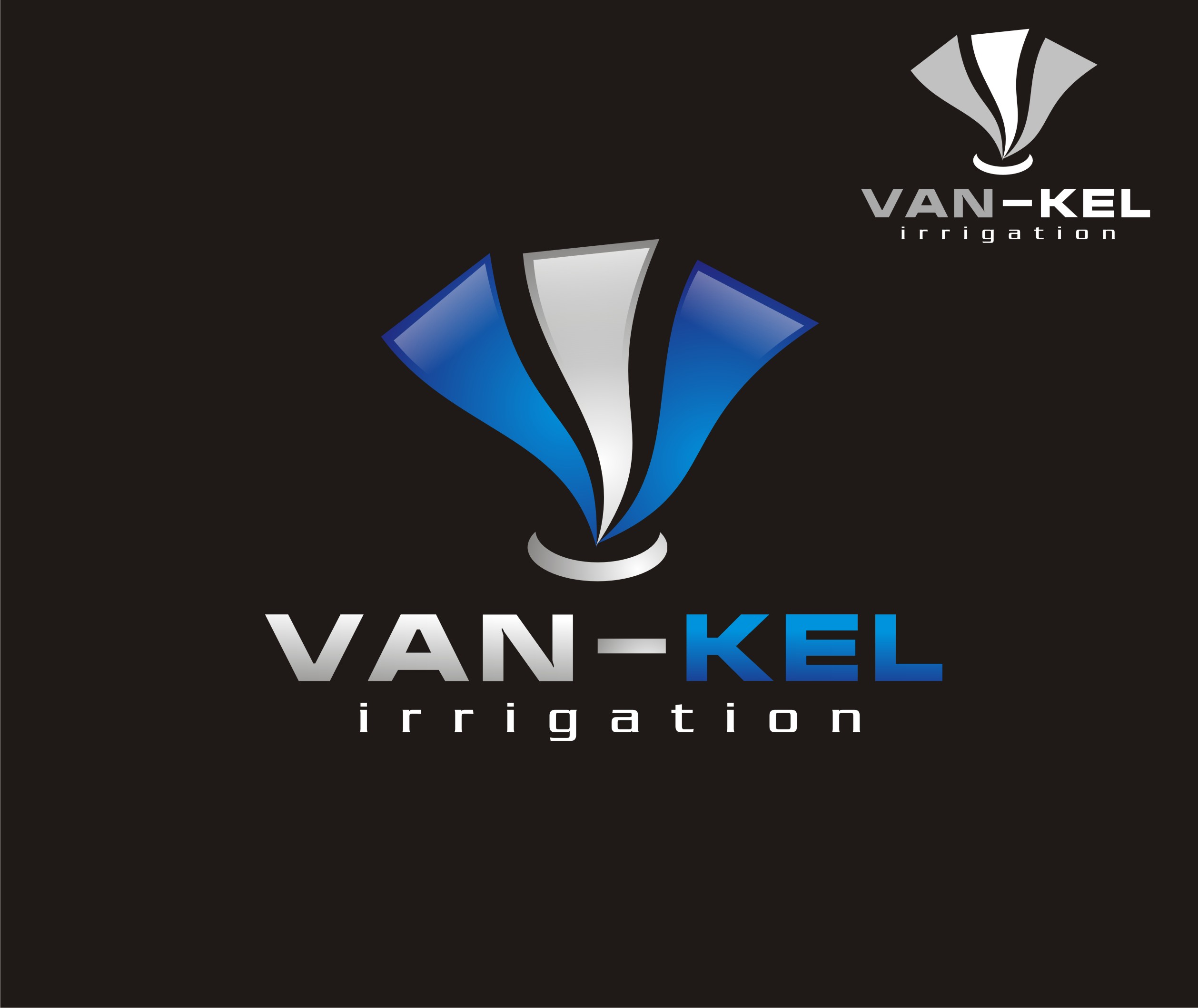 Logo Design by Felik Lahima Rahman - Entry No. 195 in the Logo Design Contest Van-Kel Irrigation Logo Design.