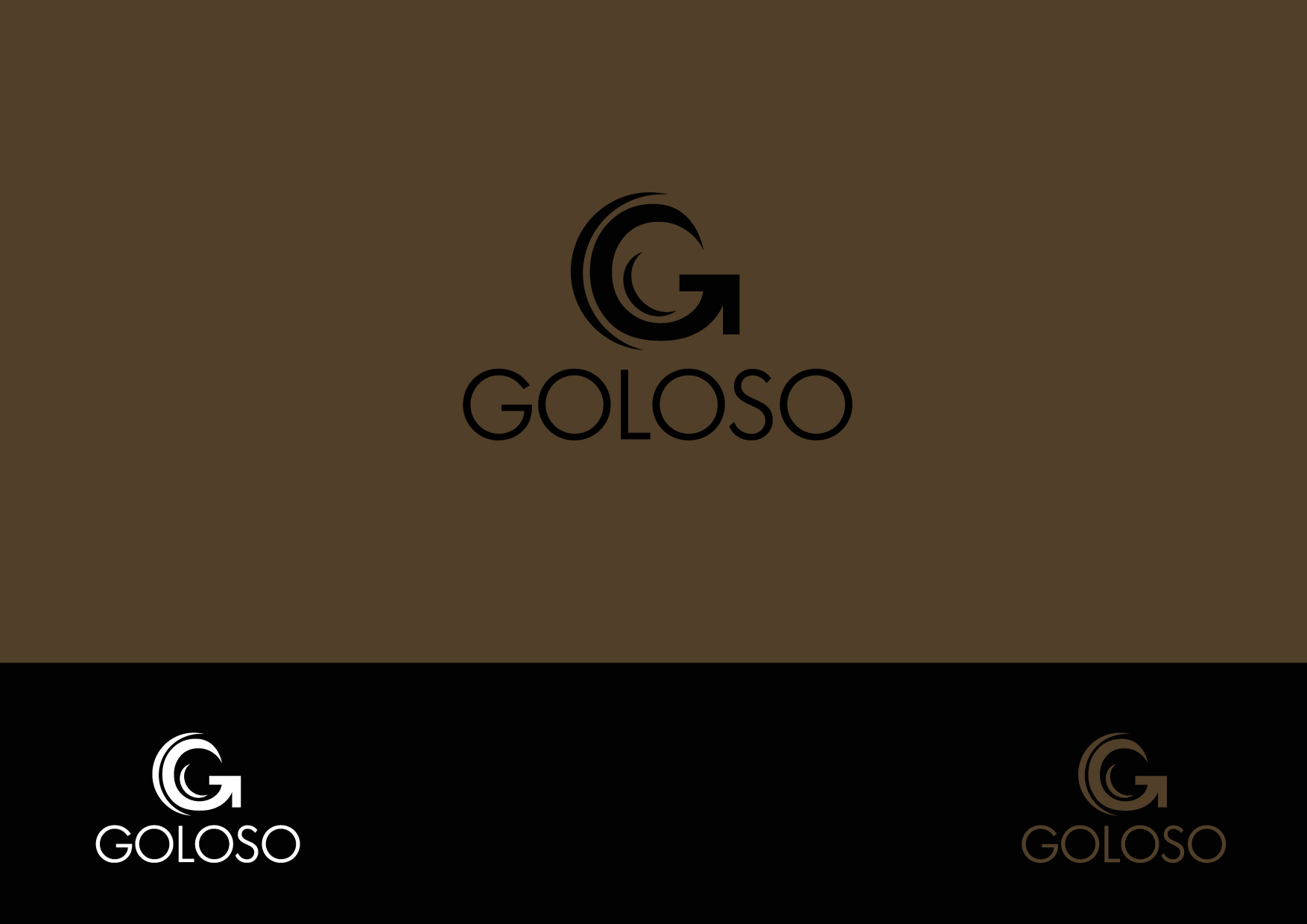 Logo Design by Osi Indra - Entry No. 15 in the Logo Design Contest Unique Logo Design Wanted for Goloso.