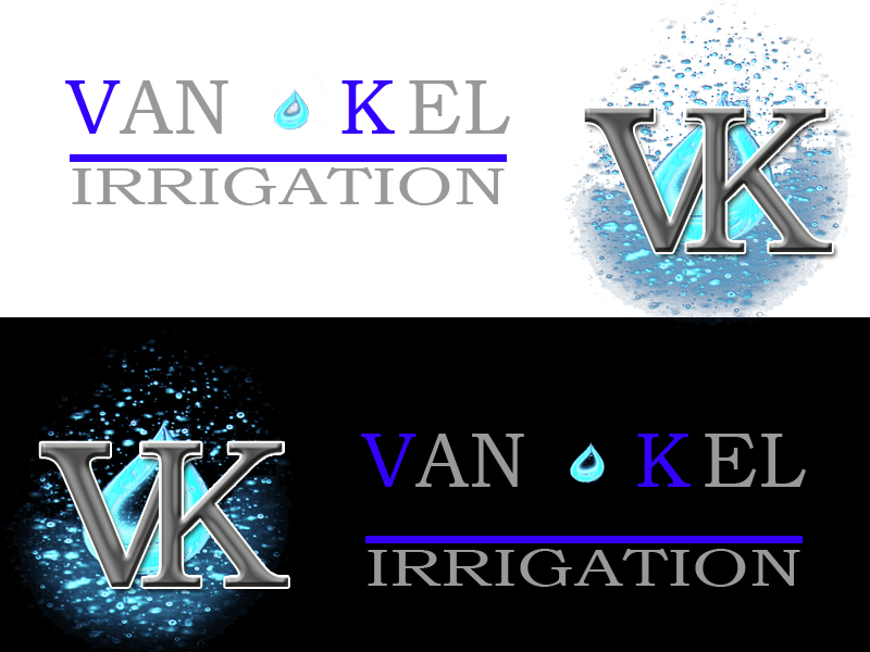 Logo Design by Aljohn Mana-ay - Entry No. 198 in the Logo Design Contest Van-Kel Irrigation Logo Design.