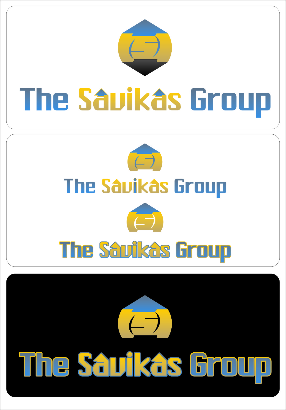 Logo Design by RasYa Muhammad Athaya - Entry No. 34 in the Logo Design Contest Logo Design Needed for Exciting New Company The Savickas Group.