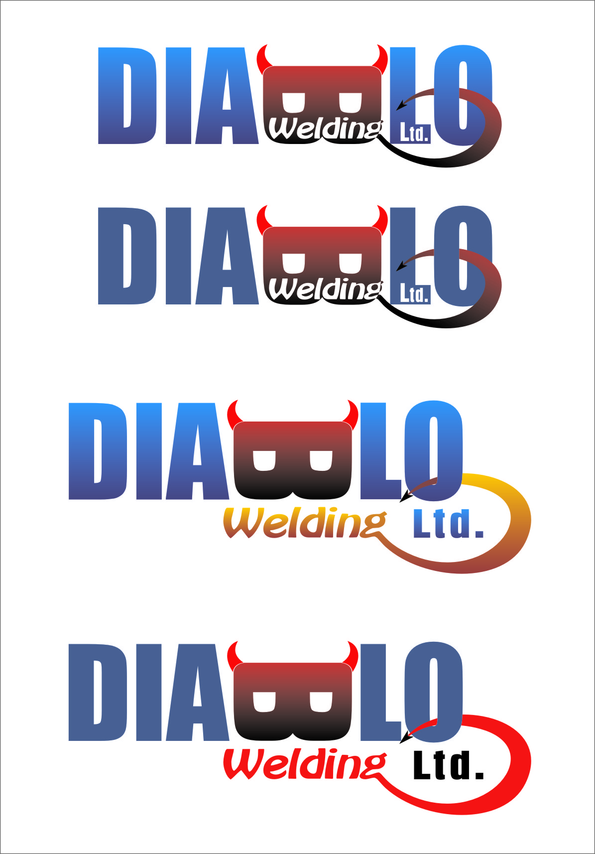 Logo Design by RasYa Muhammad Athaya - Entry No. 42 in the Logo Design Contest New Logo Design for Diablo Welding Ltd..