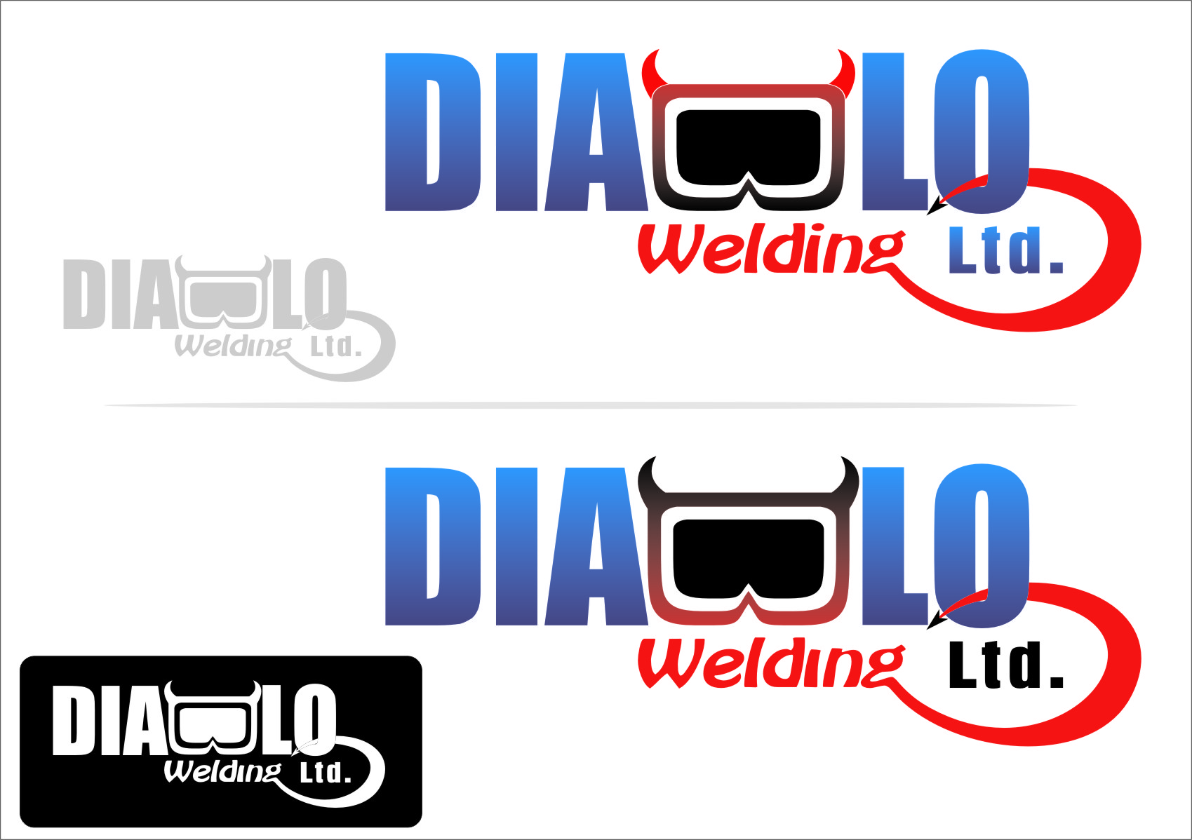 Logo Design by RasYa Muhammad Athaya - Entry No. 45 in the Logo Design Contest New Logo Design for Diablo Welding Ltd..