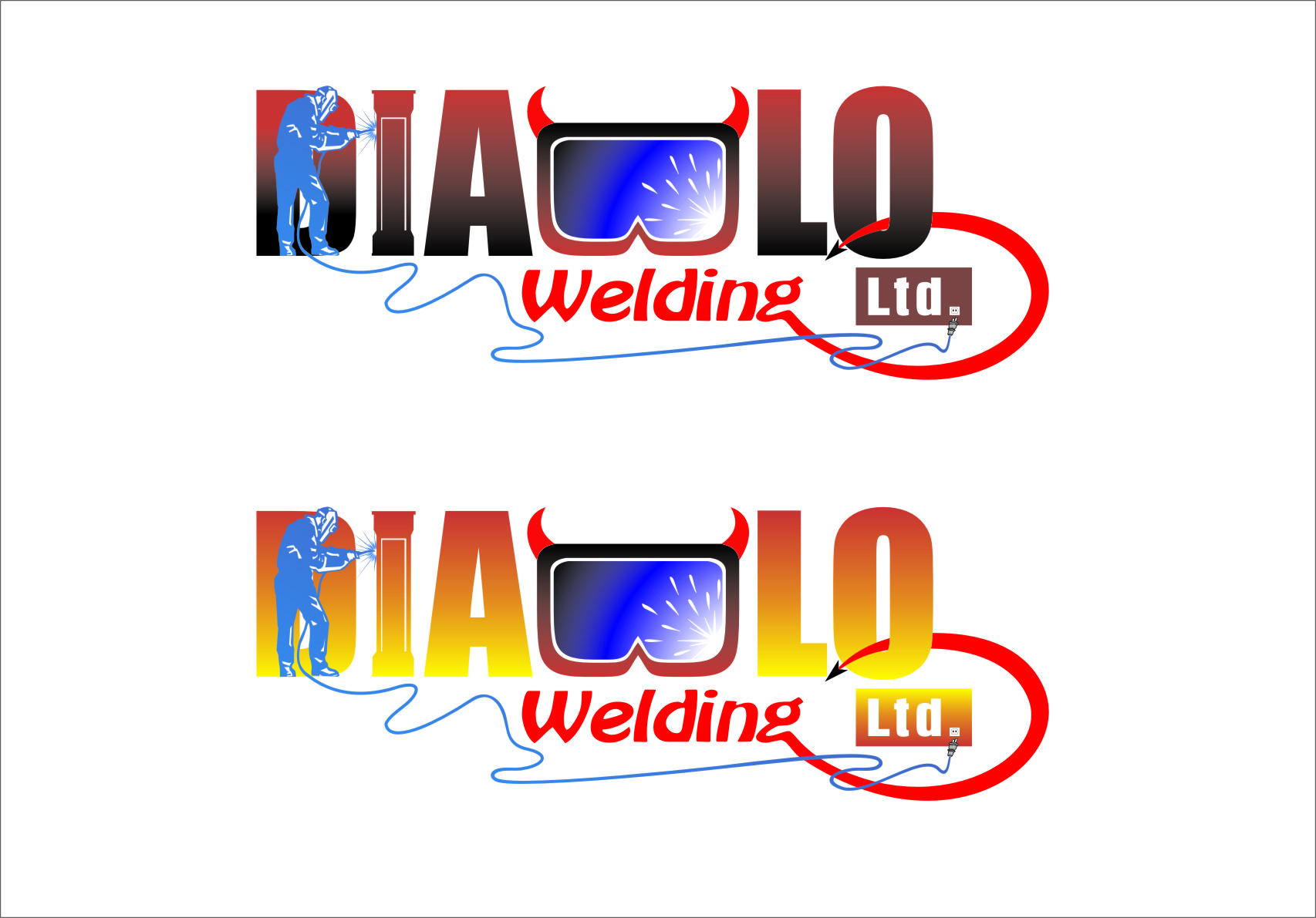 Logo Design by RasYa Muhammad Athaya - Entry No. 48 in the Logo Design Contest New Logo Design for Diablo Welding Ltd..
