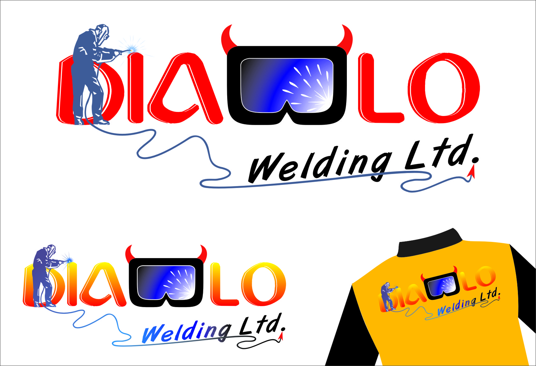 Logo Design by RasYa Muhammad Athaya - Entry No. 50 in the Logo Design Contest New Logo Design for Diablo Welding Ltd..