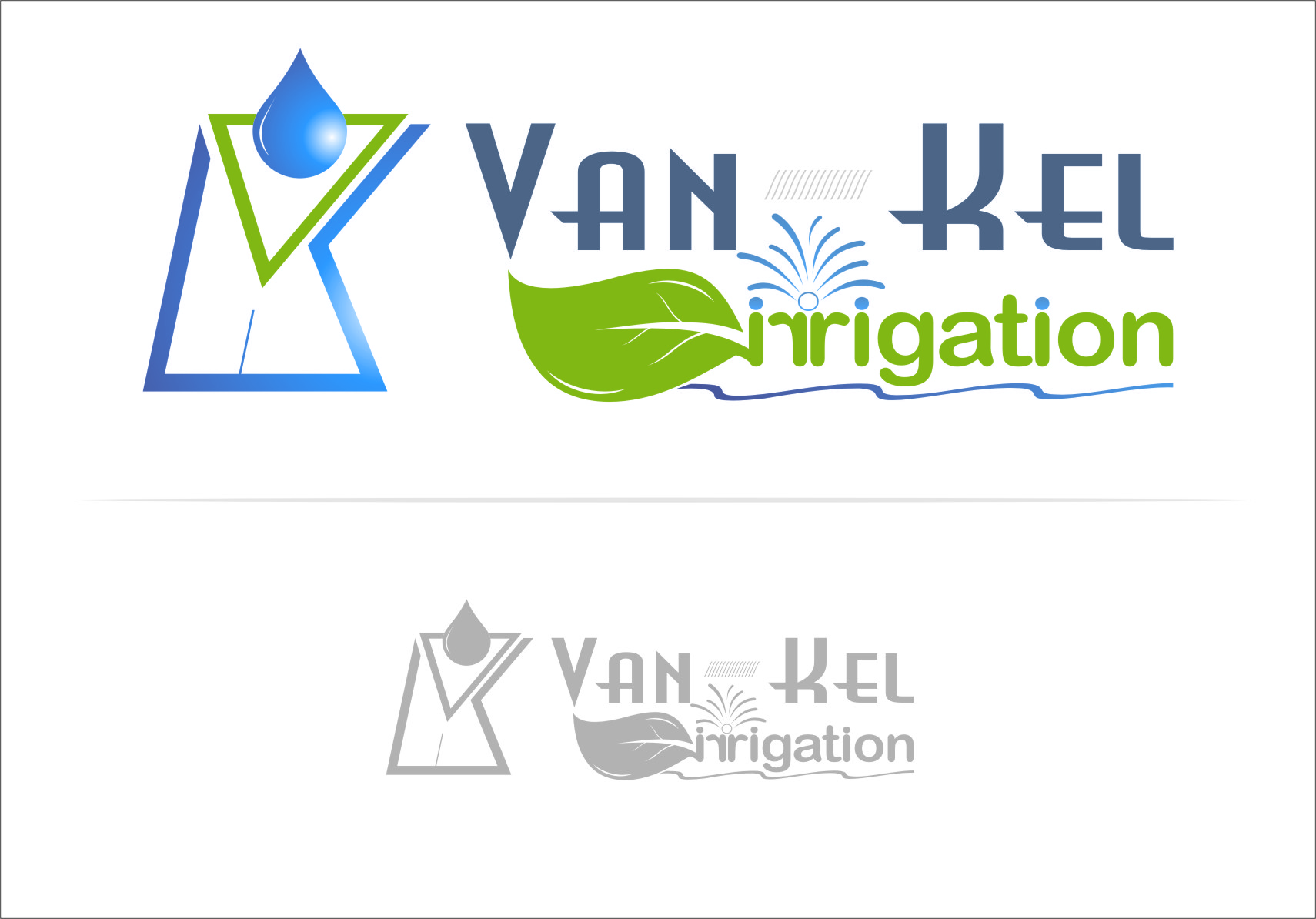 Logo Design by RoSyid Rono-Rene On Java - Entry No. 222 in the Logo Design Contest Van-Kel Irrigation Logo Design.
