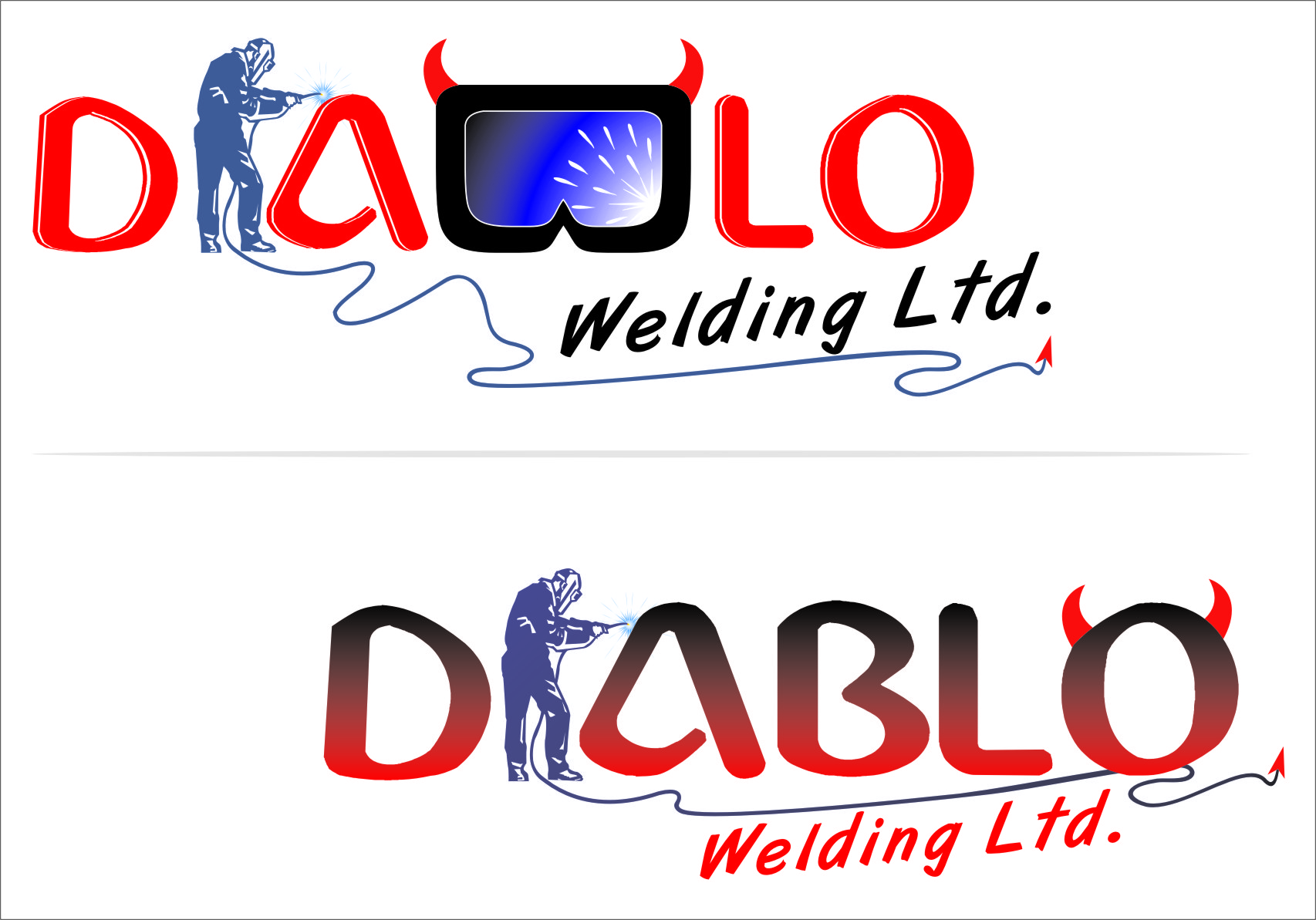 Logo Design by Ngepet_art - Entry No. 52 in the Logo Design Contest New Logo Design for Diablo Welding Ltd..