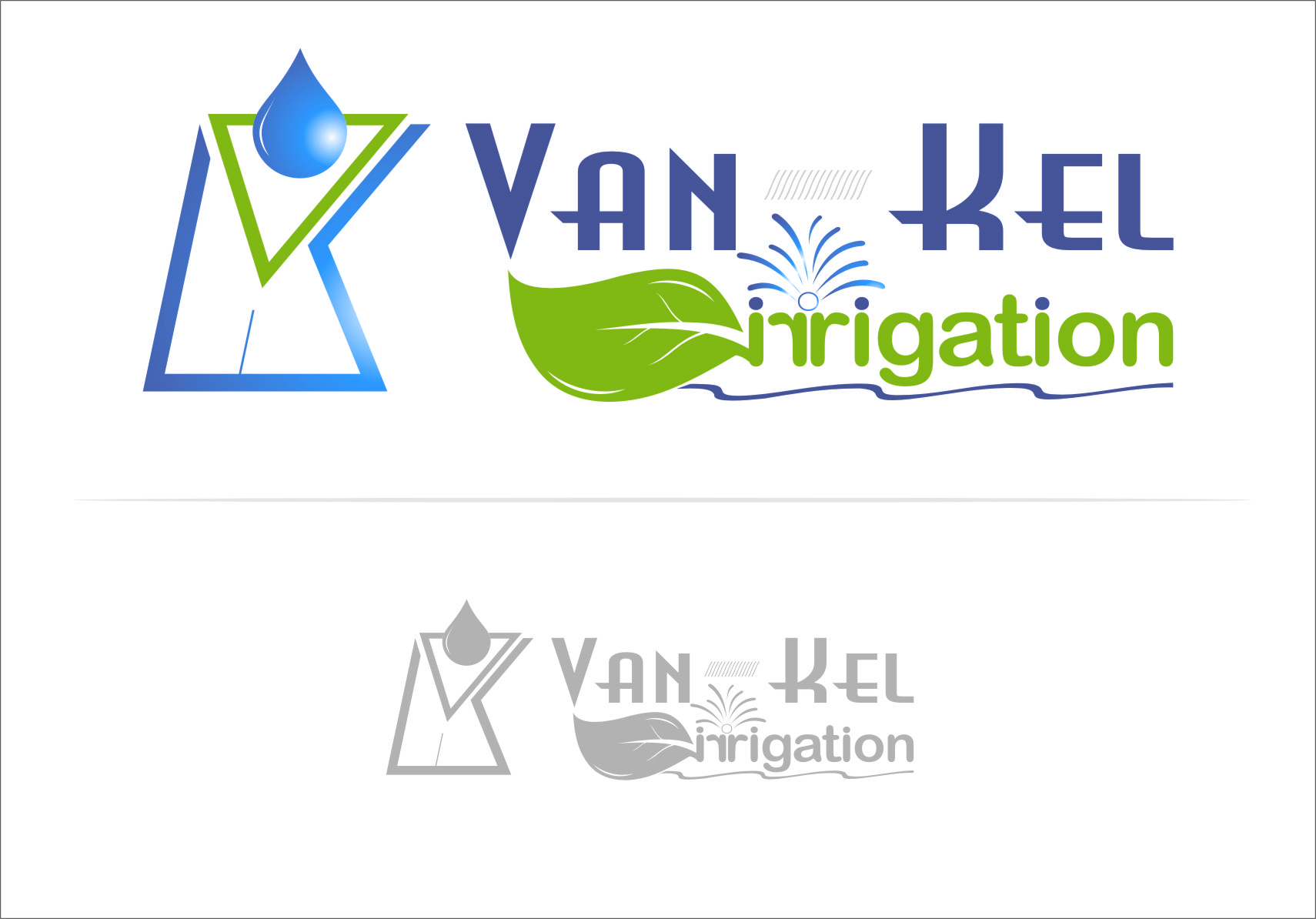 Logo Design by RoSyid Rono-Rene On Java - Entry No. 223 in the Logo Design Contest Van-Kel Irrigation Logo Design.