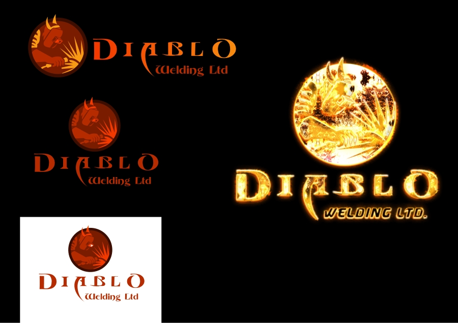 Logo Design by Private User - Entry No. 56 in the Logo Design Contest New Logo Design for Diablo Welding Ltd..