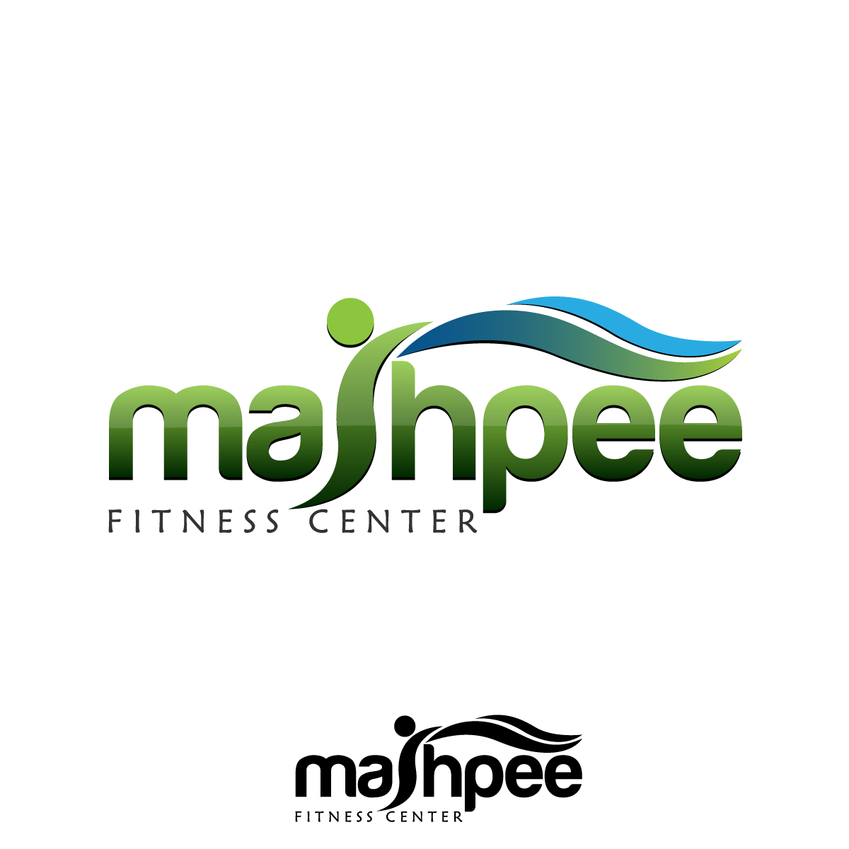 Logo Design by rockin - Entry No. 7 in the Logo Design Contest New Logo Design for Mashpee Fitness Center.