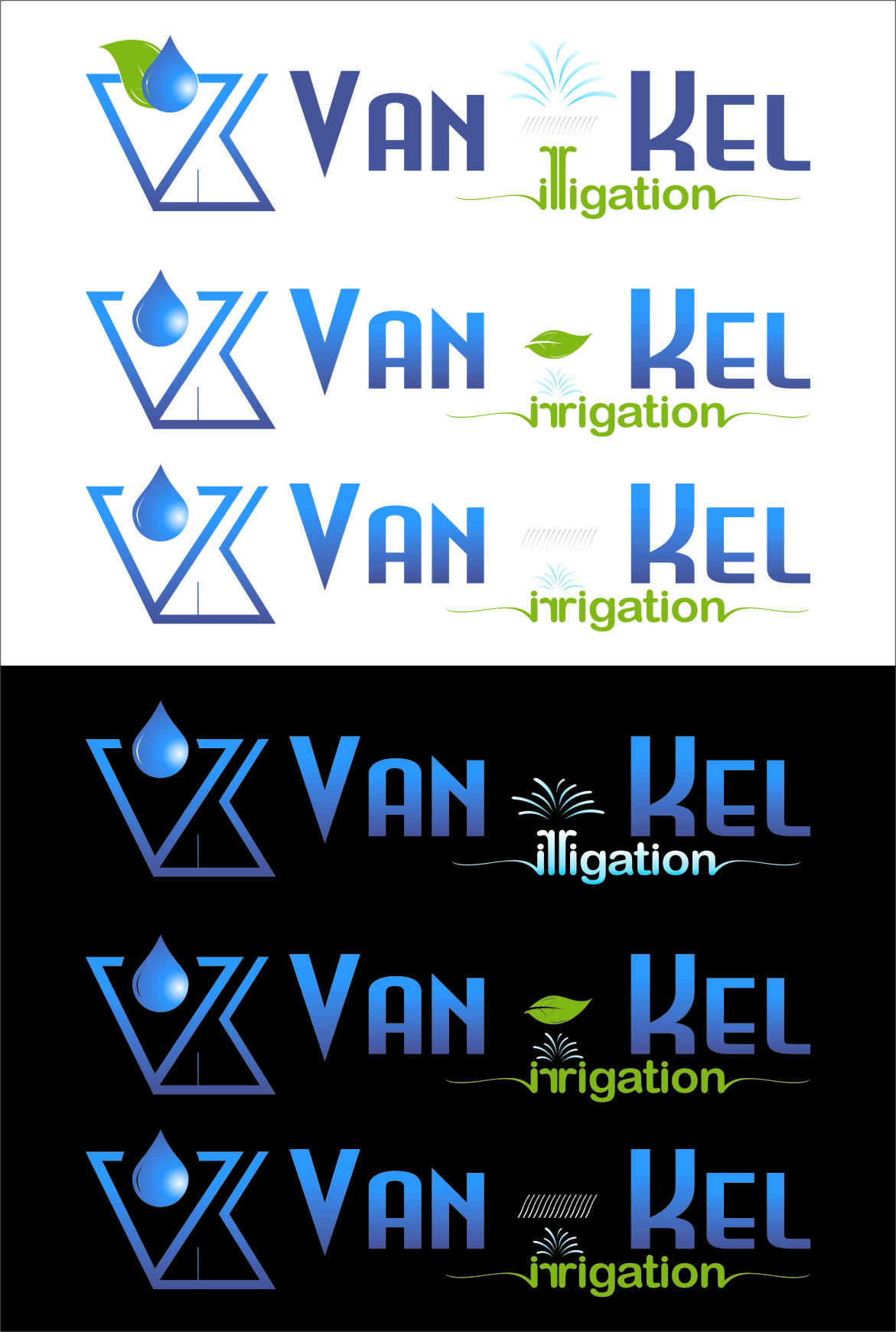 Logo Design by RasYa Muhammad Athaya - Entry No. 265 in the Logo Design Contest Van-Kel Irrigation Logo Design.