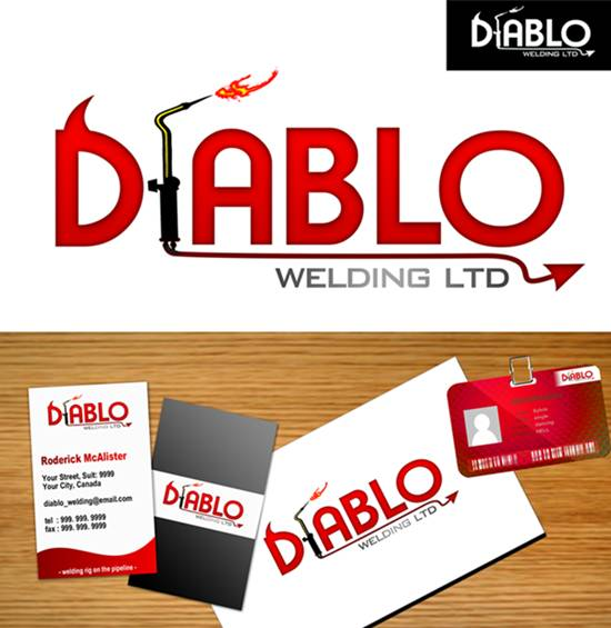 Logo Design by Respati Himawan - Entry No. 60 in the Logo Design Contest New Logo Design for Diablo Welding Ltd..
