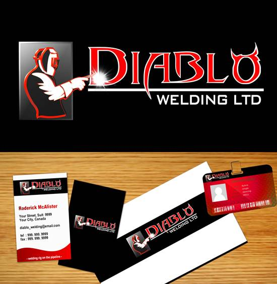 Logo Design by Respati Himawan - Entry No. 66 in the Logo Design Contest New Logo Design for Diablo Welding Ltd..