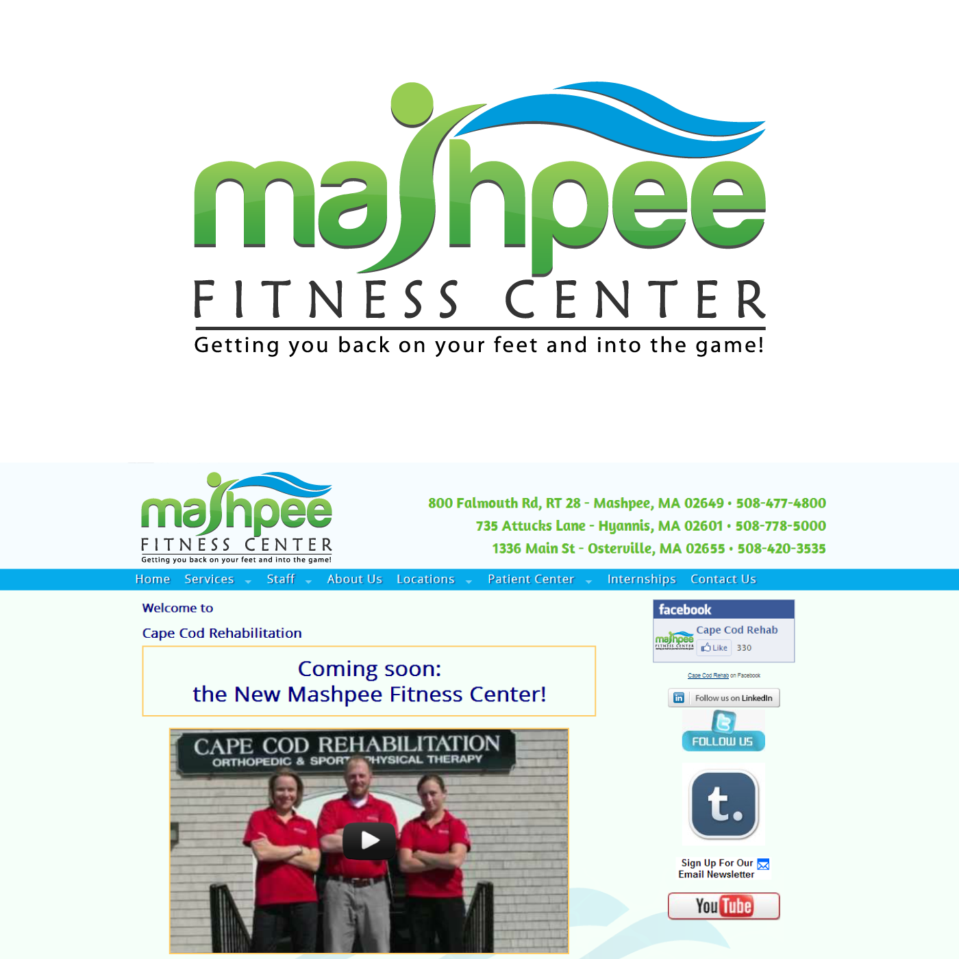 Logo Design by rockin - Entry No. 13 in the Logo Design Contest New Logo Design for Mashpee Fitness Center.