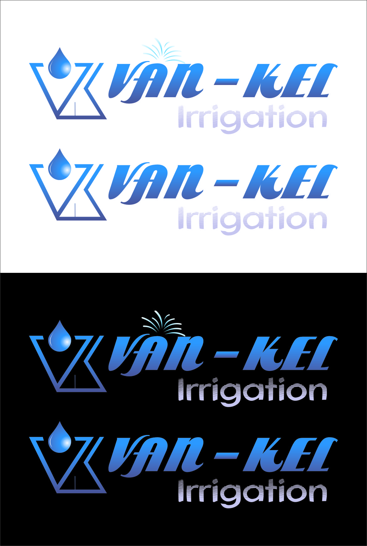 Logo Design by RasYa Muhammad Athaya - Entry No. 297 in the Logo Design Contest Van-Kel Irrigation Logo Design.