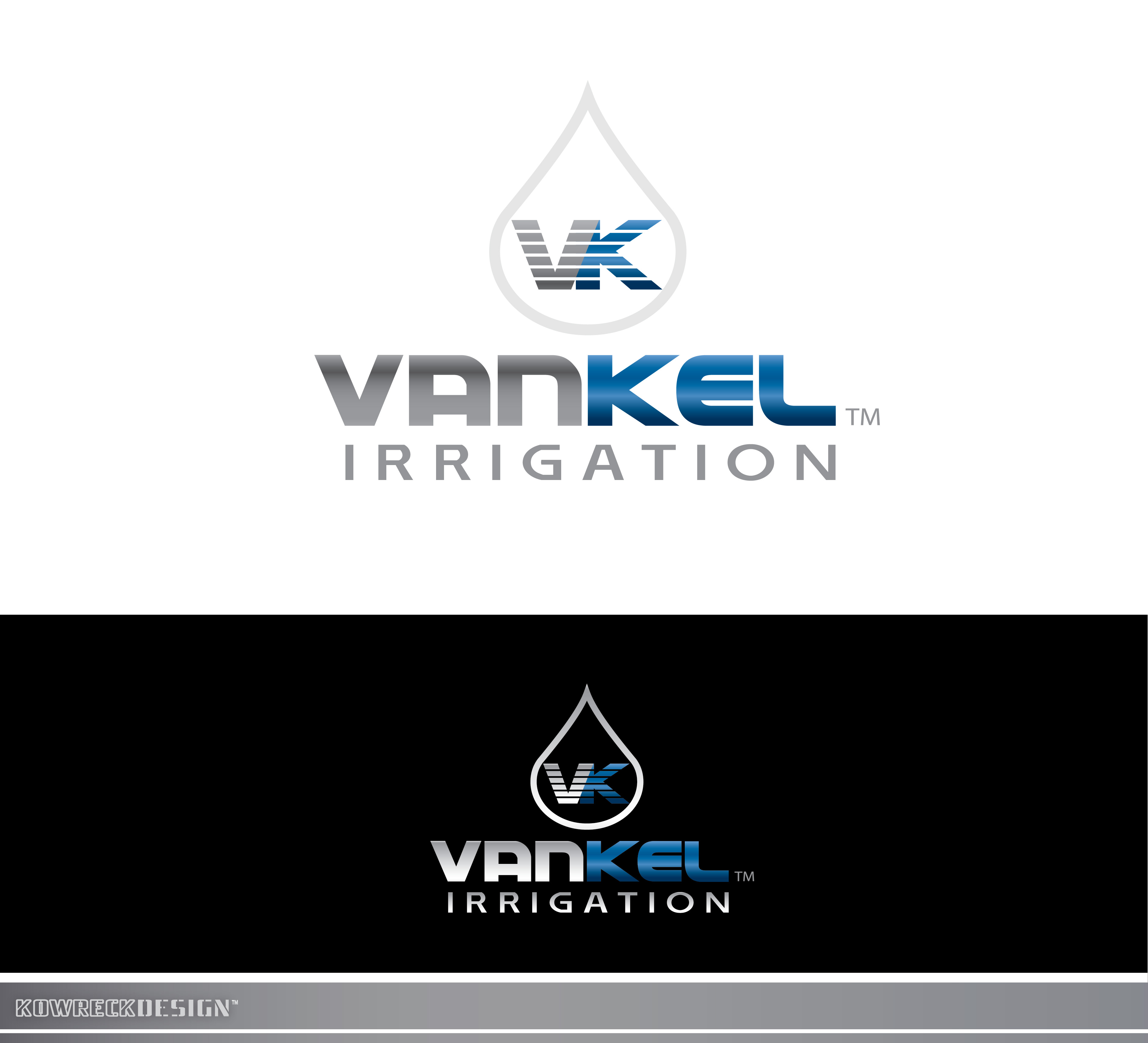 Logo Design by kowreck - Entry No. 319 in the Logo Design Contest Van-Kel Irrigation Logo Design.