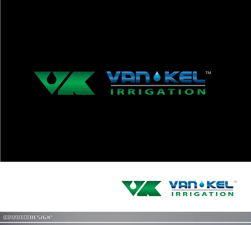 Logo Design by kowreck - Entry No. 327 in the Logo Design Contest Van-Kel Irrigation Logo Design.