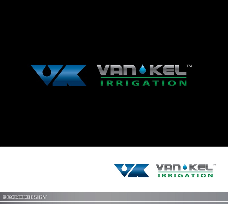 Logo Design by kowreck - Entry No. 331 in the Logo Design Contest Van-Kel Irrigation Logo Design.