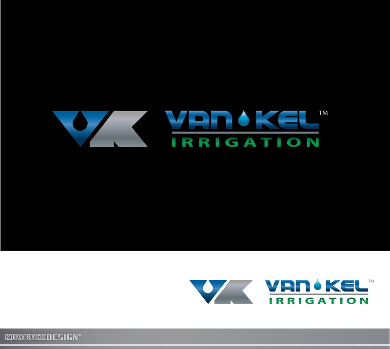 Logo Design by kowreck - Entry No. 343 in the Logo Design Contest Van-Kel Irrigation Logo Design.