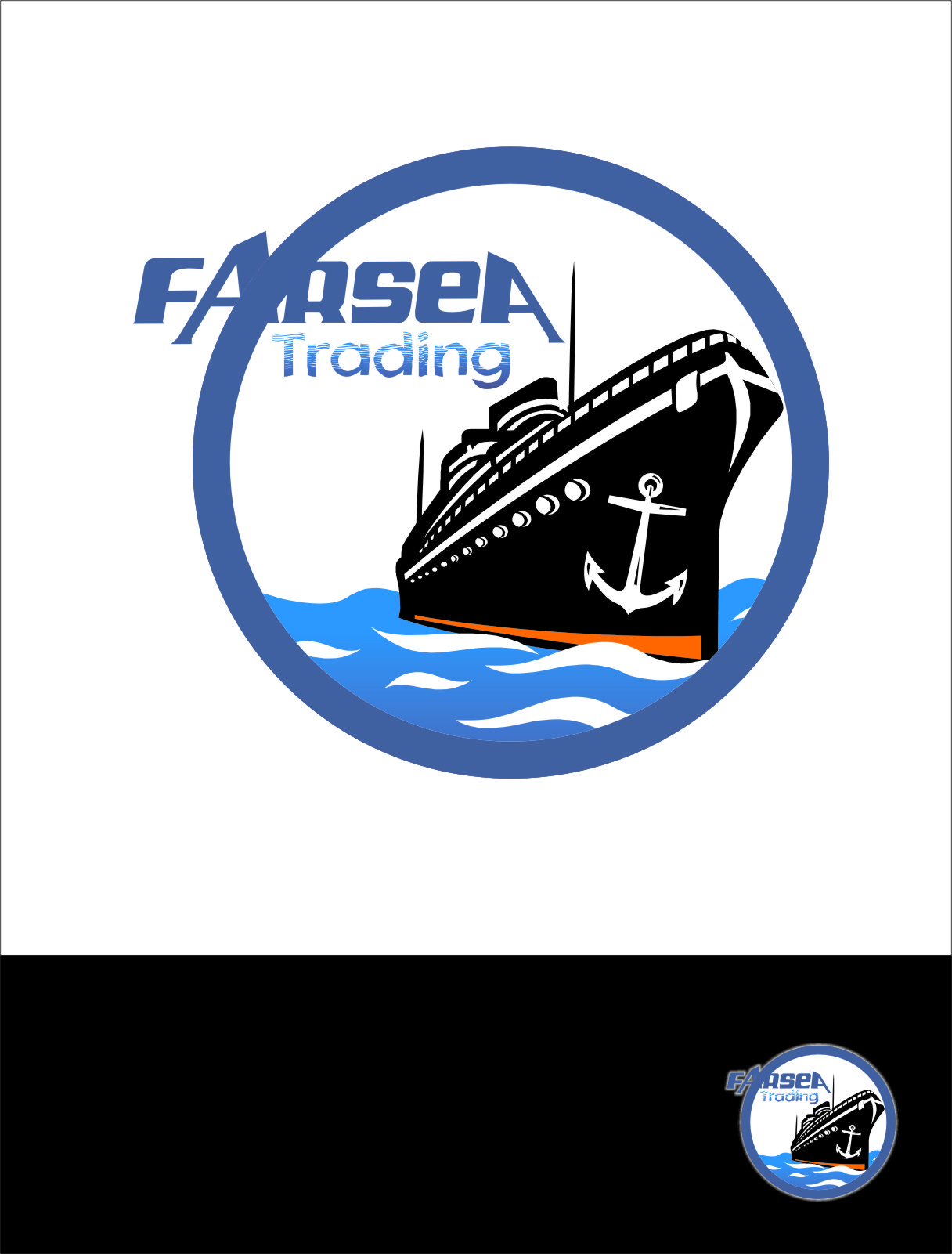 Logo Design by Ngepet_art - Entry No. 17 in the Logo Design Contest Unique Logo Design Wanted for Farsea Trading.