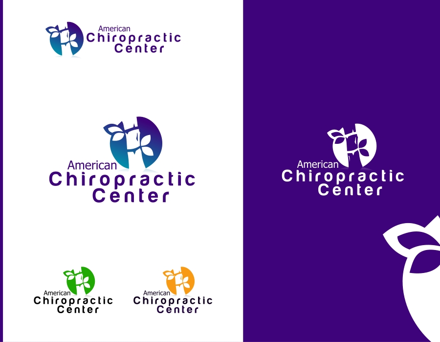 Logo Design by Private User - Entry No. 92 in the Logo Design Contest Logo Design for American Chiropractic Center.