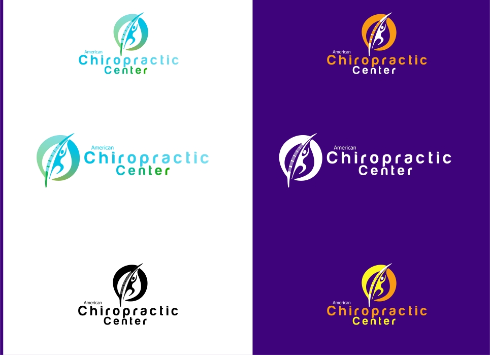 Logo Design by Private User - Entry No. 93 in the Logo Design Contest Logo Design for American Chiropractic Center.