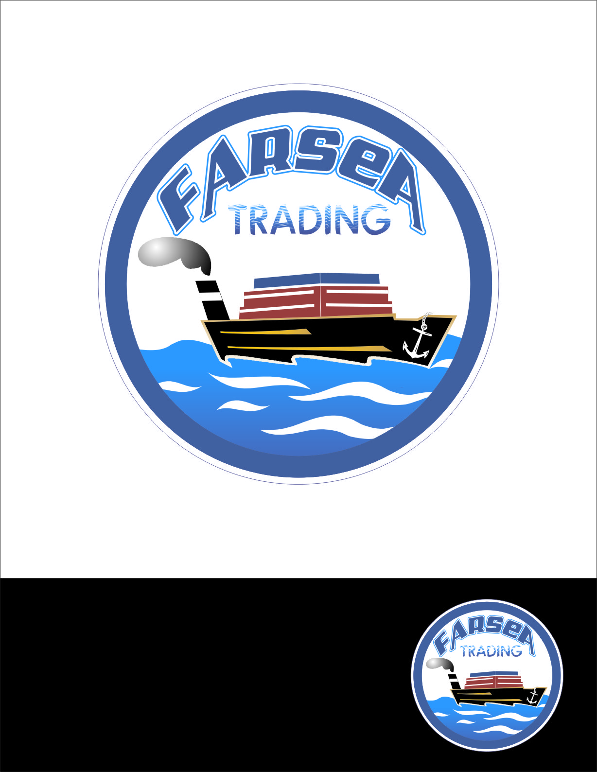 Logo Design by Ngepet_art - Entry No. 43 in the Logo Design Contest Unique Logo Design Wanted for Farsea Trading.
