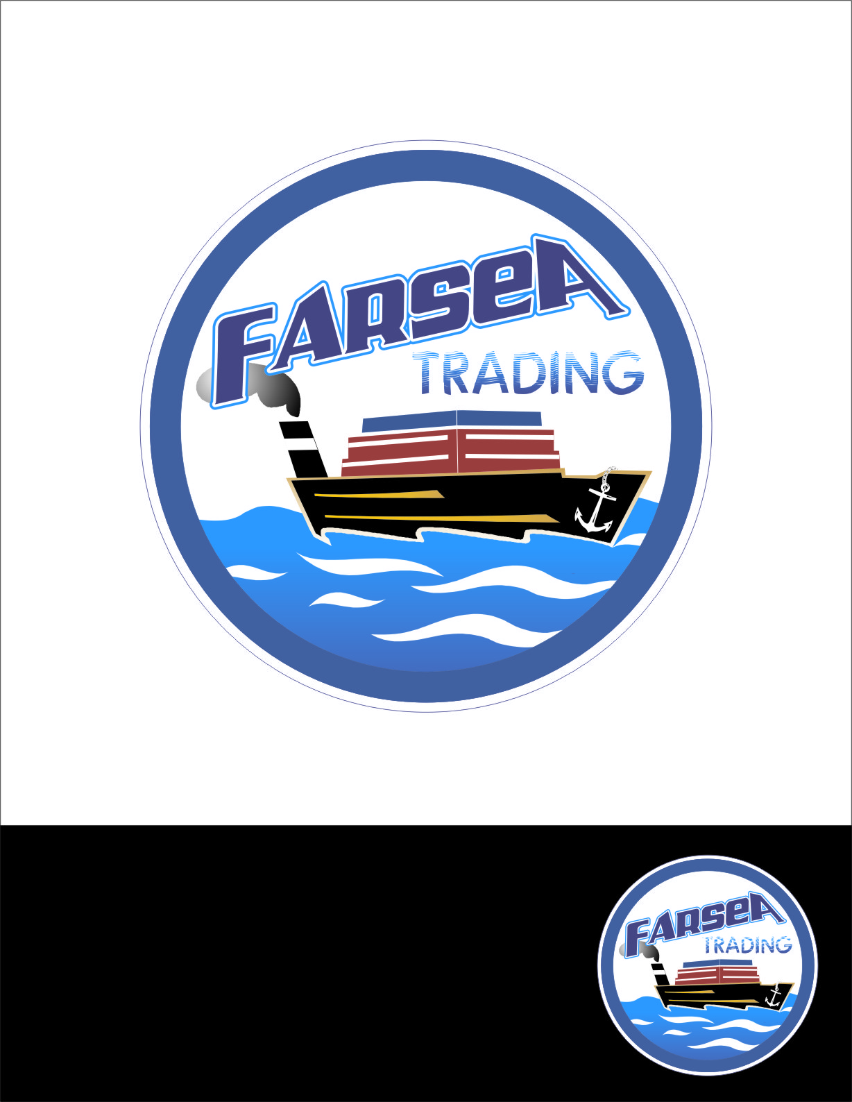 Logo Design by RasYa Muhammad Athaya - Entry No. 44 in the Logo Design Contest Unique Logo Design Wanted for Farsea Trading.