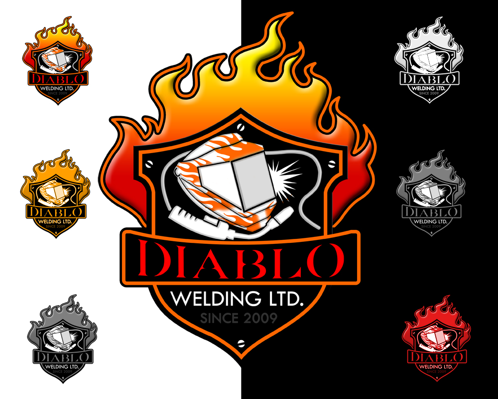 Logo Design by Private User - Entry No. 86 in the Logo Design Contest New Logo Design for Diablo Welding Ltd..