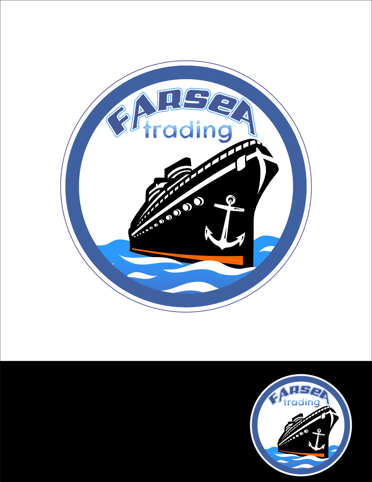 Logo Design by Ngepet_art - Entry No. 48 in the Logo Design Contest Unique Logo Design Wanted for Farsea Trading.