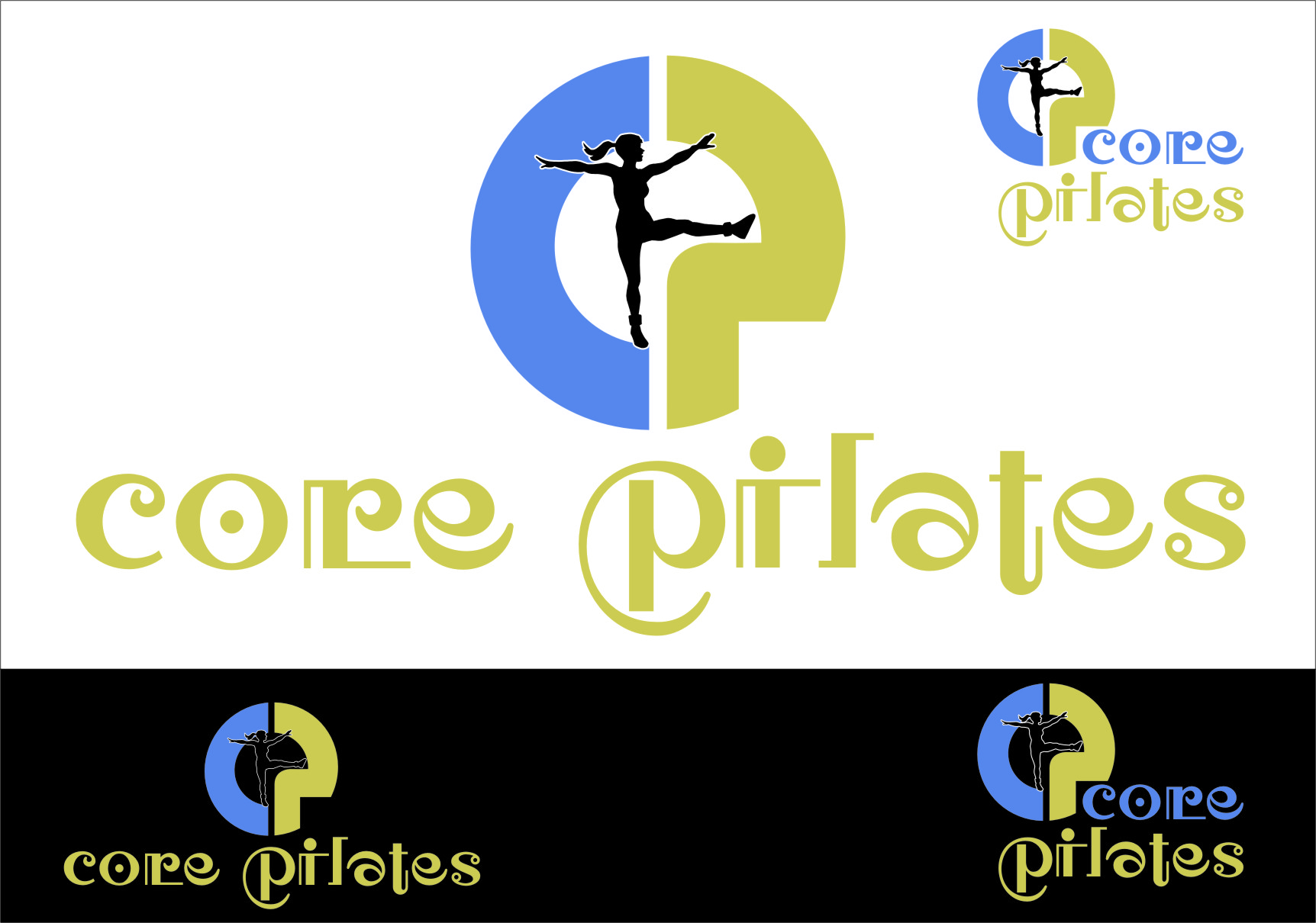 Logo Design by RasYa Muhammad Athaya - Entry No. 9 in the Logo Design Contest Core Pilates Logo Design.
