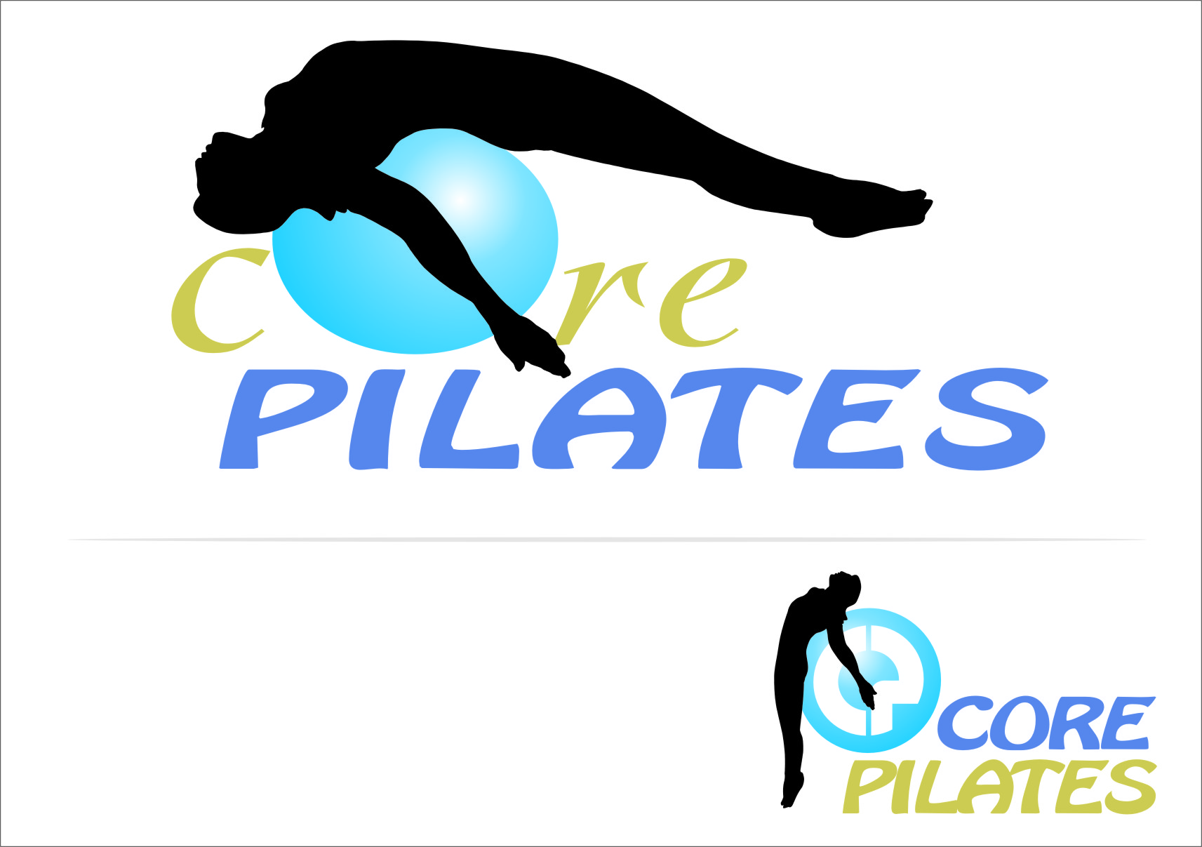 Logo Design by Ngepet_art - Entry No. 11 in the Logo Design Contest Core Pilates Logo Design.