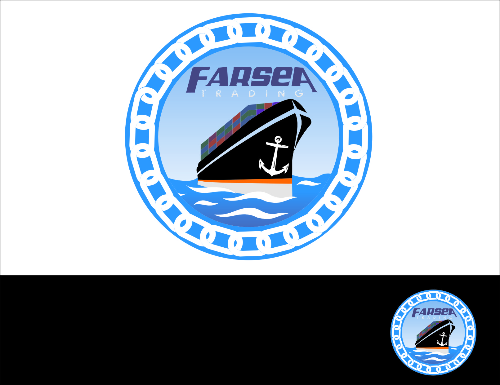 Logo Design by RasYa Muhammad Athaya - Entry No. 58 in the Logo Design Contest Unique Logo Design Wanted for Farsea Trading.