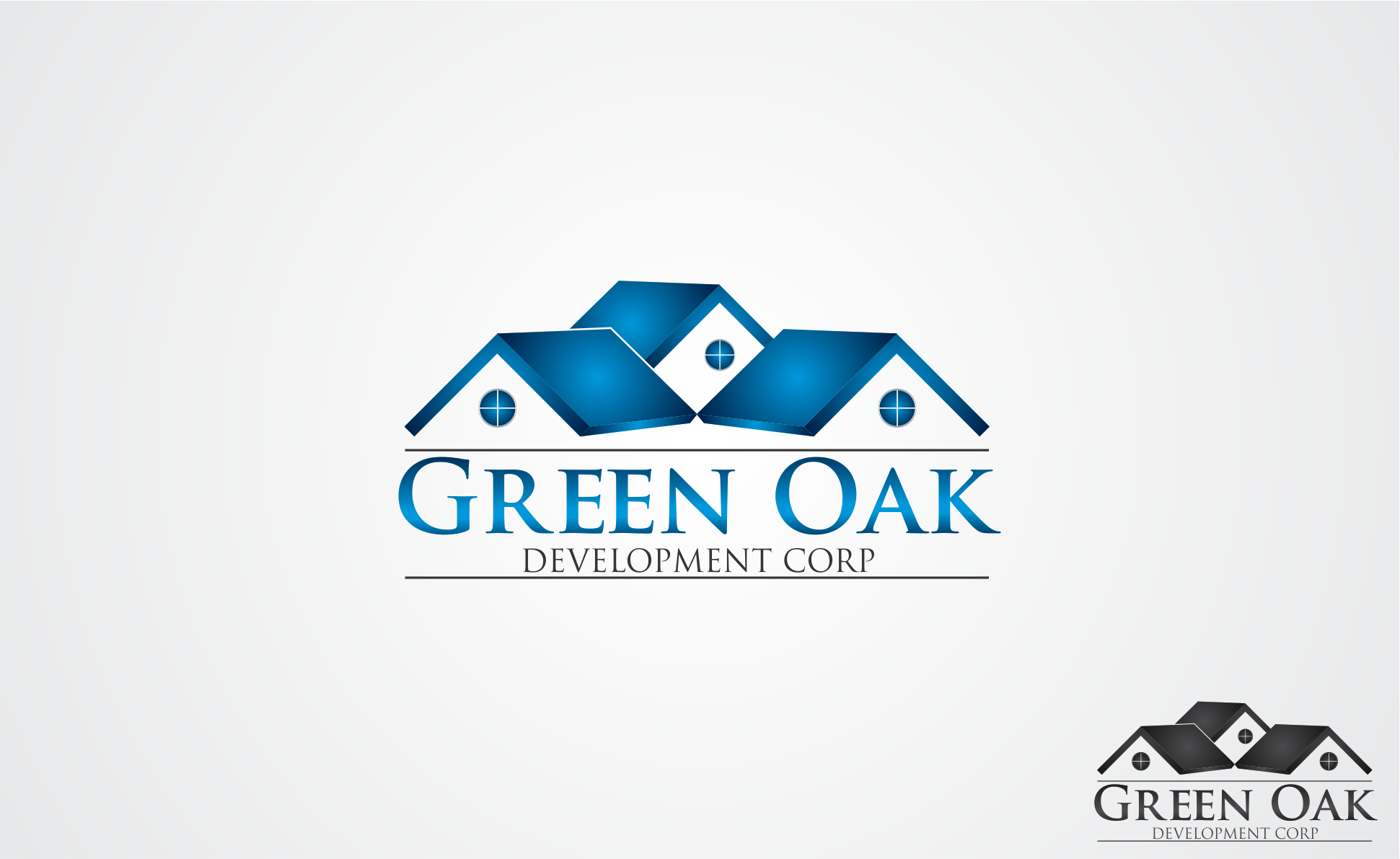 Logo Design by Dicky Kurniadi Hari Saputro - Entry No. 2 in the Logo Design Contest Unique Logo Design Wanted for Green Oak Development Corp..