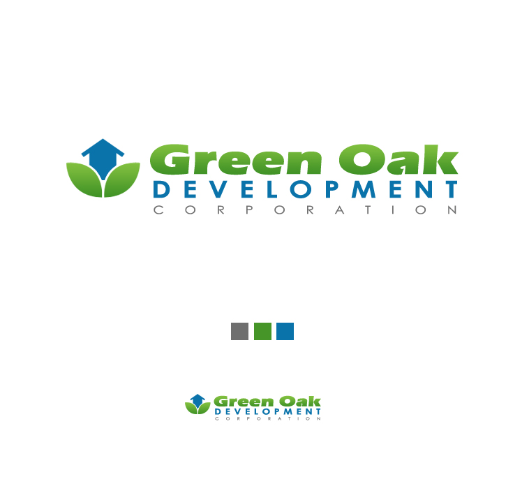 Logo Design by elmd - Entry No. 3 in the Logo Design Contest Unique Logo Design Wanted for Green Oak Development Corp..