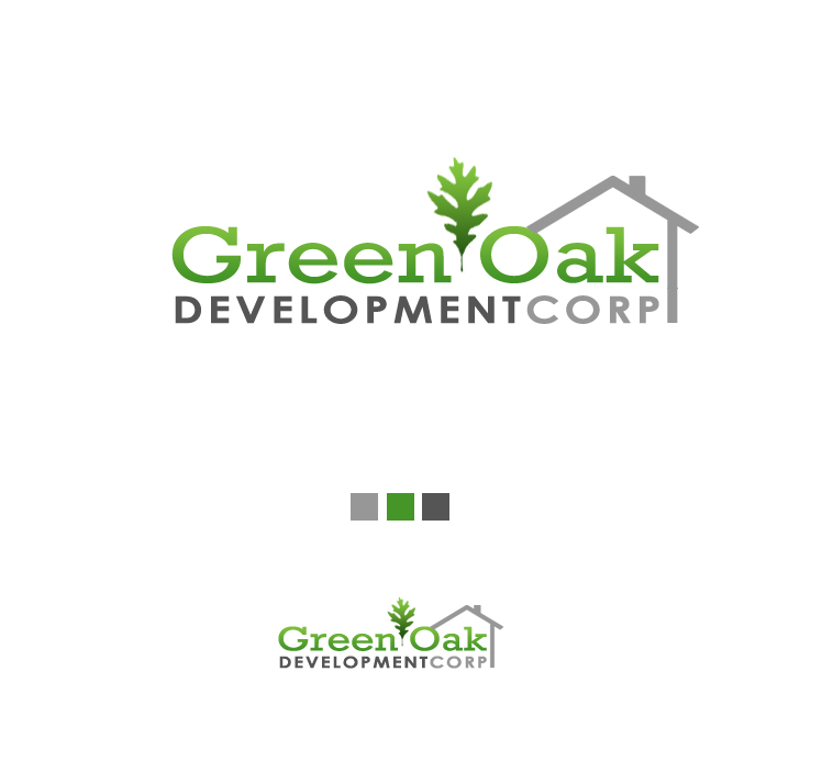 Logo Design by elmd - Entry No. 6 in the Logo Design Contest Unique Logo Design Wanted for Green Oak Development Corp..