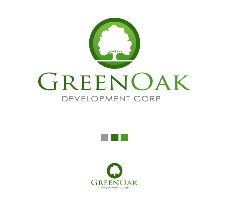 Logo Design by elmd - Entry No. 7 in the Logo Design Contest Unique Logo Design Wanted for Green Oak Development Corp..