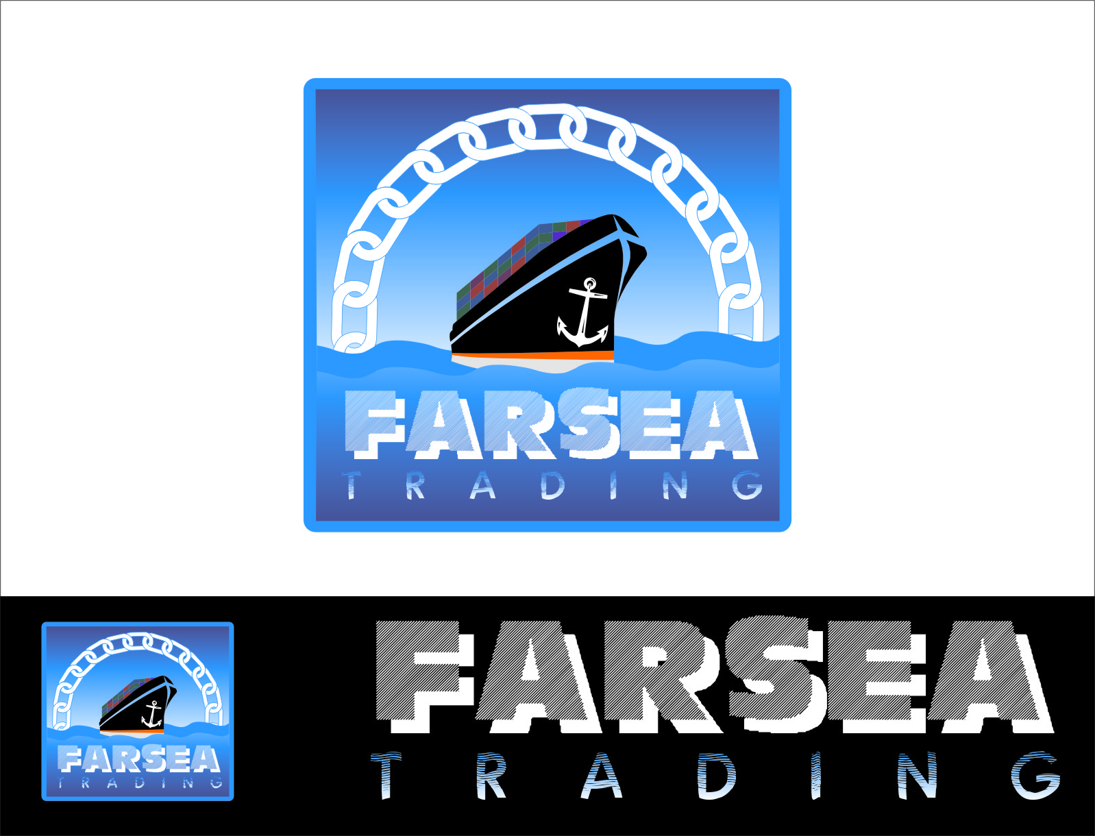 Logo Design by Ngepet_art - Entry No. 72 in the Logo Design Contest Unique Logo Design Wanted for Farsea Trading.