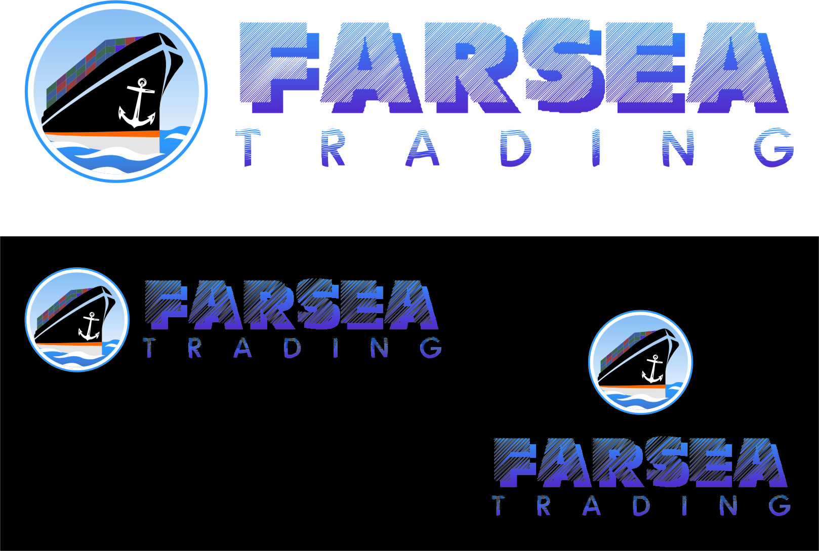 Logo Design by RoSyid Rono-Rene On Java - Entry No. 73 in the Logo Design Contest Unique Logo Design Wanted for Farsea Trading.