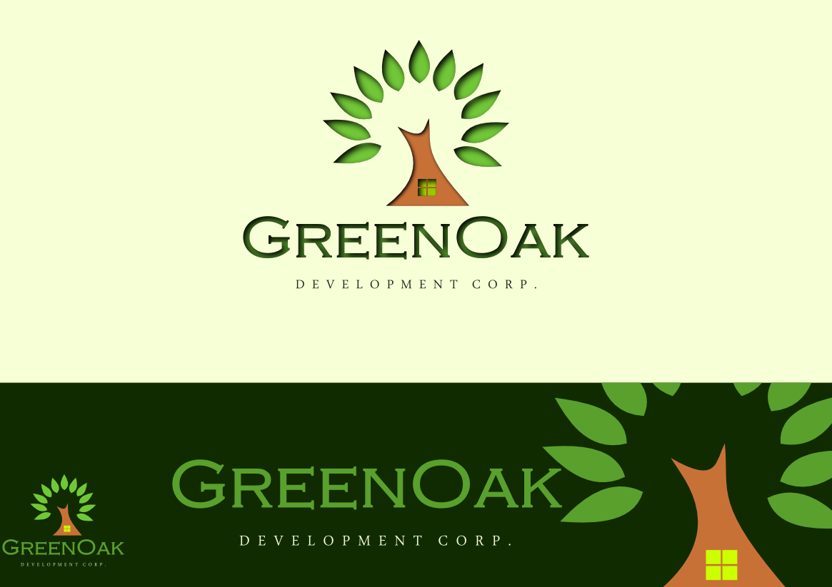 Logo Design by whoosef - Entry No. 12 in the Logo Design Contest Unique Logo Design Wanted for Green Oak Development Corp..