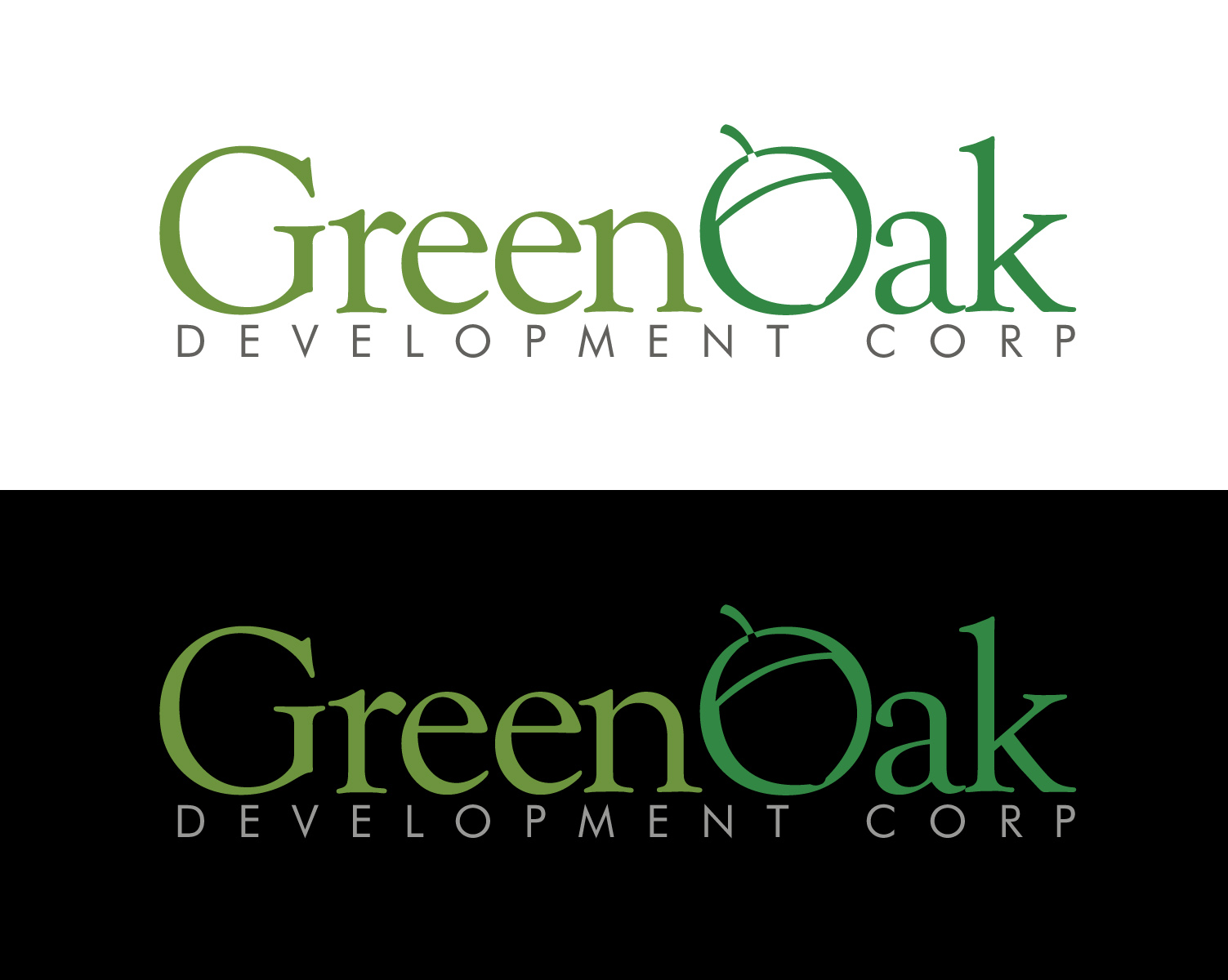 Logo Design by moidgreat - Entry No. 19 in the Logo Design Contest Unique Logo Design Wanted for Green Oak Development Corp..