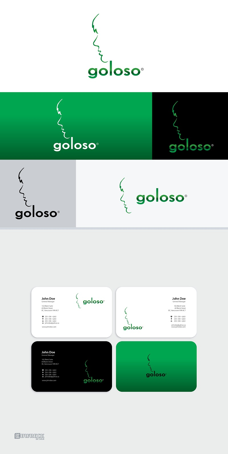 Logo Design by kowreck - Entry No. 210 in the Logo Design Contest Unique Logo Design Wanted for Goloso.