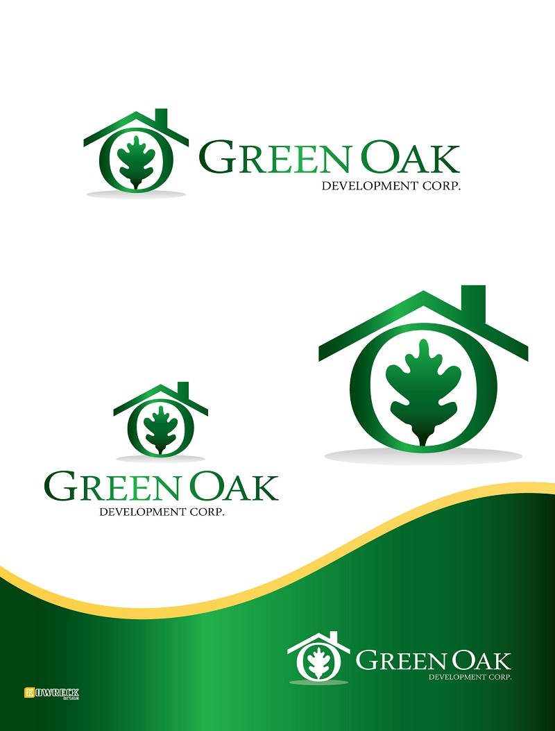 Logo Design by kowreck - Entry No. 31 in the Logo Design Contest Unique Logo Design Wanted for Green Oak Development Corp..