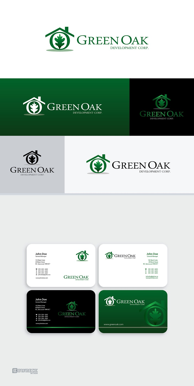 Logo Design by kowreck - Entry No. 32 in the Logo Design Contest Unique Logo Design Wanted for Green Oak Development Corp..