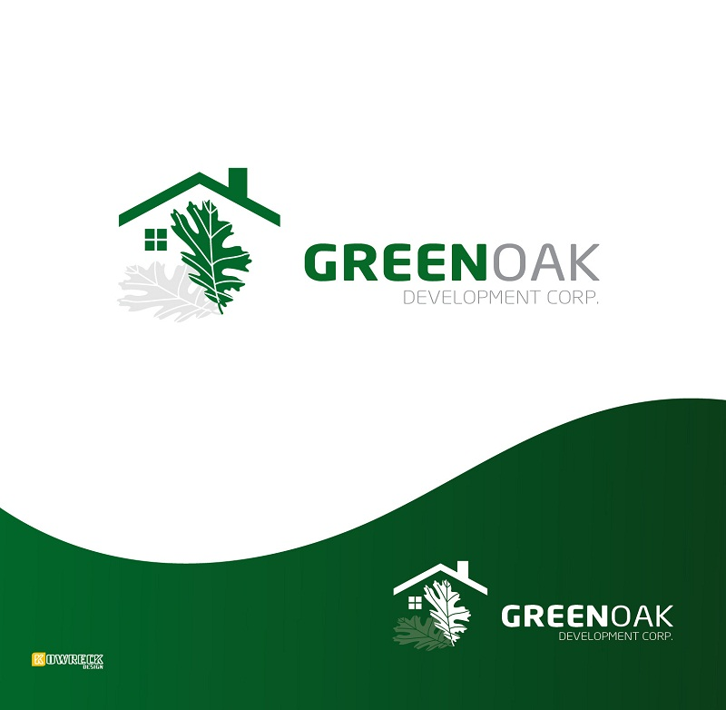 Logo Design by kowreck - Entry No. 33 in the Logo Design Contest Unique Logo Design Wanted for Green Oak Development Corp..