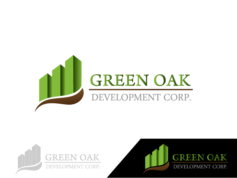 Logo Design by Private User - Entry No. 36 in the Logo Design Contest Unique Logo Design Wanted for Green Oak Development Corp..