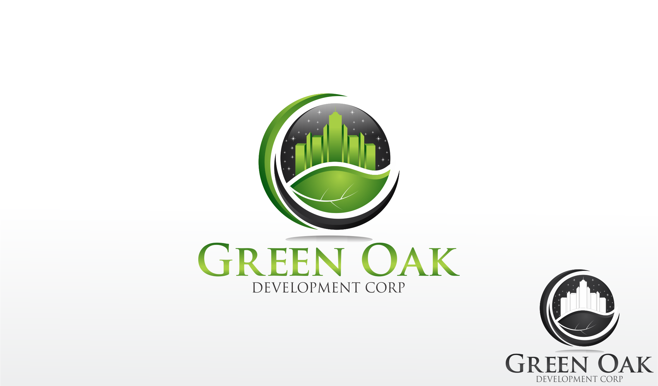 Logo Design by Dicky Kurniadi Hari Saputro - Entry No. 50 in the Logo Design Contest Unique Logo Design Wanted for Green Oak Development Corp..