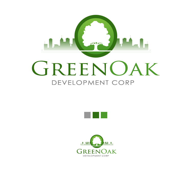 Logo Design by elmd - Entry No. 62 in the Logo Design Contest Unique Logo Design Wanted for Green Oak Development Corp..