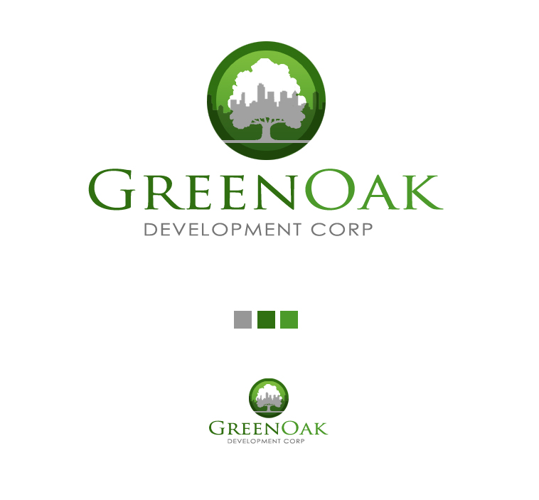 Logo Design by elmd - Entry No. 63 in the Logo Design Contest Unique Logo Design Wanted for Green Oak Development Corp..